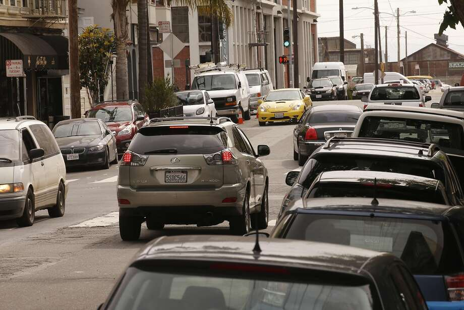 Parking near 22nd and Tennessee streets is always a challenge in Dogpatch. Photo: Michael Macor, The Chronicle