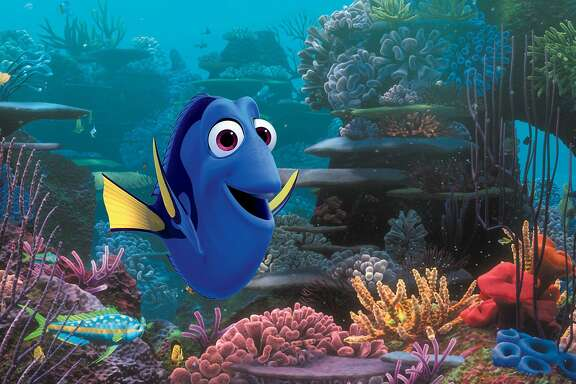 "This image released by Disney-Pixar shows the character Dory, voiced by Ellen DeGeneres, in a scene from ""Finding Dory,"" opening nationwide on June 17. (Disney�Pixar via AP)"