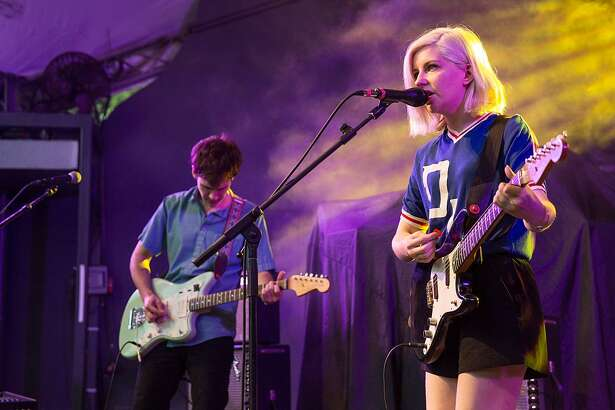 AUSTIN, TX - APRIL 27: Musician/vocalist Molly Rankin of Alvvays performs in concert at Stubb's Bar-B-Q on April 27, 2016 in Austin, Texas. (Photo by Rick Kern/WireImage)