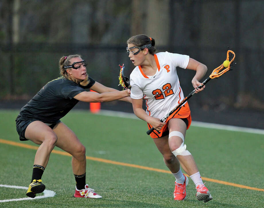 Princeton University junior Olivia Hompe, a New Canaan native, was named one of 25 nominees for the 2016 Tewaaraton Award. Photo: Beverly Schaefer / Princton Athletics / Stamford Advocate Contributed