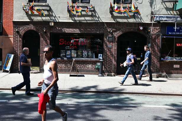 FILE -- The Stonewall Inn in New York, Mary 29, 2015. The White House is considering the creation of a national monument to the gay rights movement on a small piece of Greenwich Village parkland across the street from the Stonewall Inn, where a 1969 uprising helped inspire the push for equality, advocates said on May 3, 2016. (Byron Smith/The New York Times)