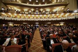 Inside the War Memorial Opera House during opening night of the San Francisco Opera at the War Memorial Building on September 11, 2009 in San Francisco, Calif.  Photograph by David Paul Morris / Special to the Chronicle