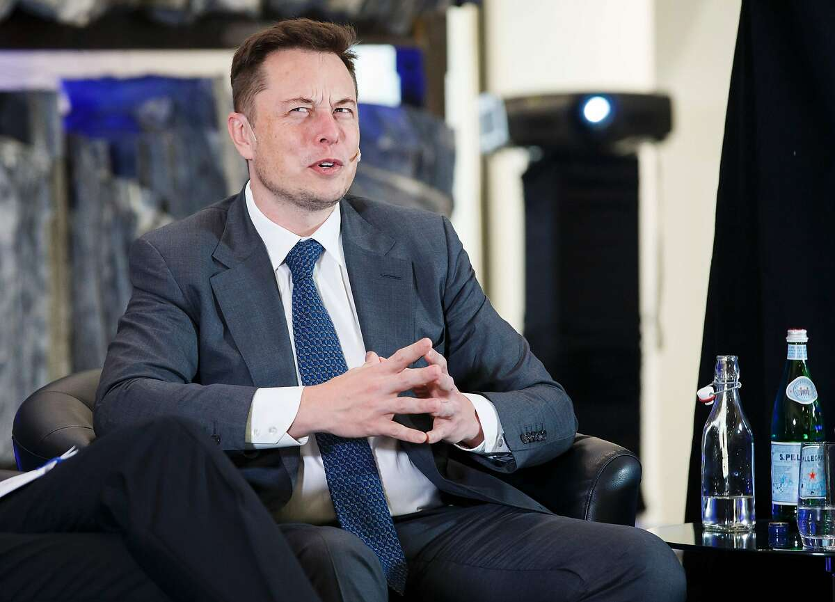 Elon Musk, CEO of Tesla Motors attends an environmental conference at Astrup Fearnley Museum in Oslo, Norway on April 21, 2016. / AFP PHOTO / NTB Scanpix / Heiko JUNGE / Norway OUTHEIKO JUNGE/AFP/Getty Images