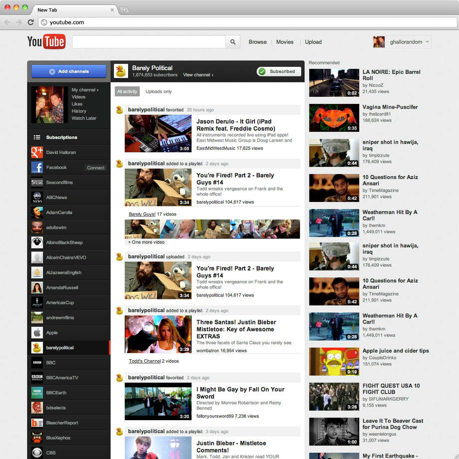 YouTube has been working on an online cable package since at least 2012, according to a person familiar with the plan, but these plans have taken on new urgency in the past few months. Unplugged would offer customers a bundle of cable TV channels streamed over the Internet, according to sources. Photo: Google / Google Inc.