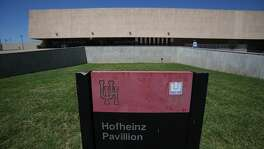 "The family of late county judge Roy Hofheinz on Wednesday filed a petition seeking to require the University of Houston to ""honor its original agreement"" and keep the school's basketball arena named Hofheinz Pavilion. (Steve Gonzales / Houston Chronicle)"
