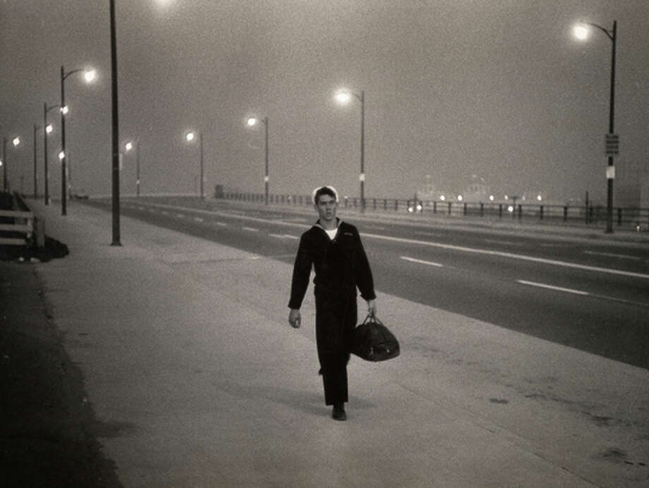 """New York, 1950"" by Garry Winogrand, at Pier 24 Photography. Photo: DON ROSS / Pier 24 Photography"