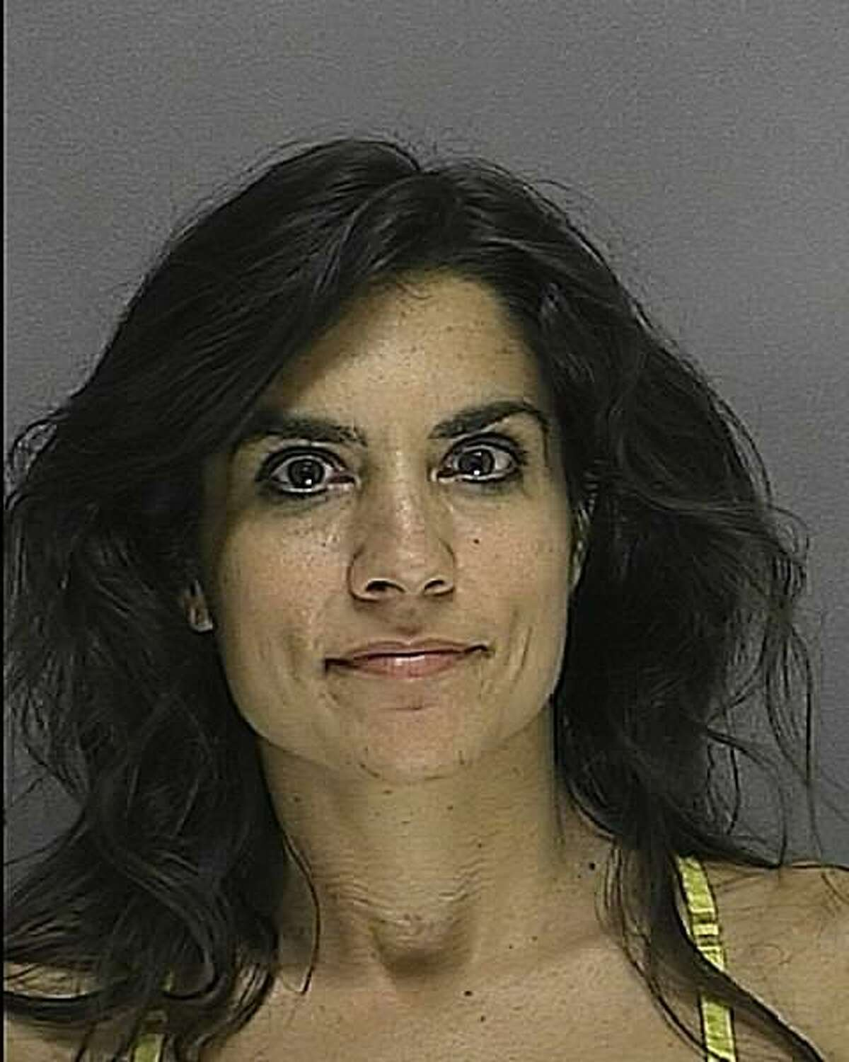 Linda Hadad's booking photo taken for driving under the influence on Sept. 4, 2010. In one reported conversation with a client, Brandon Carson, Hadad tells her client,