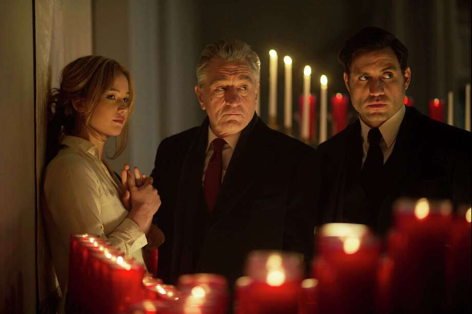 "This photo provided by Twentieth Century Fox shows, Jennifer Lawrence, from left, Robert De Niro, and Edgar Ramirez, in a scene from the film, ""Joy."" The movie opens in U.S. theaters on Dec. 25, 2015. (Merie Weismiller Wallace/Twentieth Century Fox via AP) ORG XMIT: CAET669 Photo: Merie Weismiller Wallace / Twentieth Century Fox"