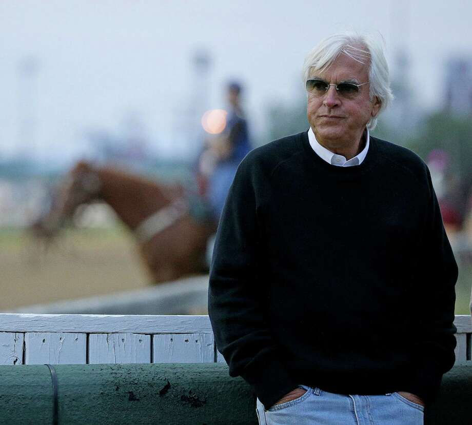 Trainer Bob Baffert watches a workout at Churchill Downs Tuesday, May 3, 2016, in Louisville, Ky. The 142nd running of the Kentucky Derby is scheduled for Saturday, May 7. (AP Photo/Charlie Riedel) ORG XMIT: KYCR131 Photo: Charlie Riedel / AP