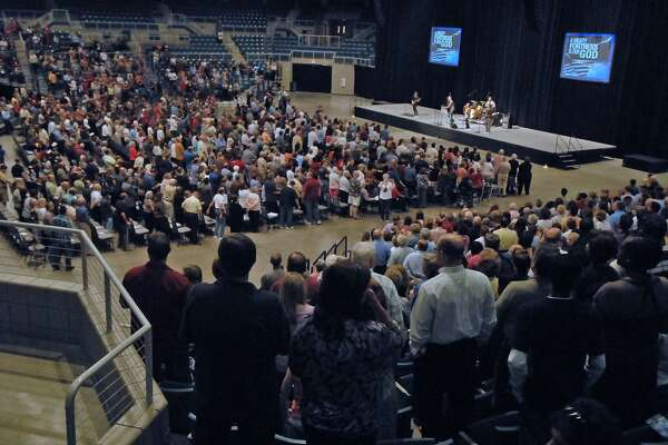 The Merrell Center will host a free event at 7 p.m. May 5 to observe National Day of Prayer. Above, participants filled the center for the 60th annual observance.