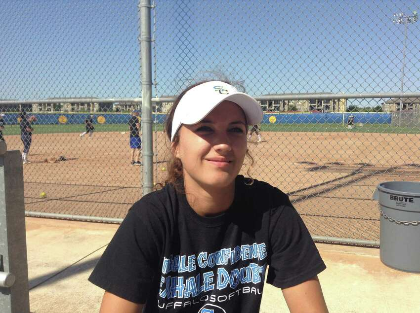 Clemens softball player Sierra Schultz poses at practice in 2016.