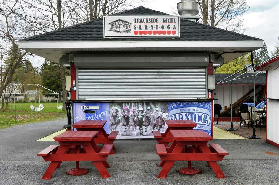 Saratoga Trackside Grill on  Wright St. Tuesday May, 3, 2016 in Saratoga Springs, NY.  (John Carl D'Annibale / Times Union) Photo: John Carl D'Annibale / 20036462A