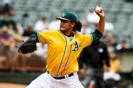 OAKLAND, CA - MAY 04: Sean Manaea #55 of the Oakland Athletics pitches against the Seattle Mariners during the third inning at the Oakland Coliseum on May 4, 2016 in Oakland, California. (Photo by Jason O. Watson/Getty Images)