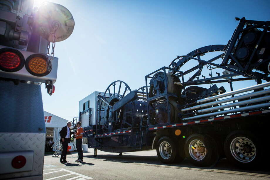 LGT 450 Coiled Tubing Trailer made by Jerell at the 2016 Offshore Technology Convention. Wednesday, May 4, 2016, in Houston. ( Marie D. De Jesus / Houston Chronicle ) Photo: Marie D. De Jesus, Houston Chronicle / © 2016 Houston Chronicle