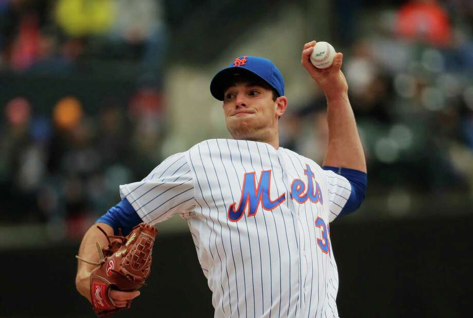 NEW YORK, NY - MAY 04:  Steven Matz #32 of the New York Mets pitches in the first inning against the Atlanta Braves during their game at Citi Field on May 4, 2016 in New York City.  (Photo by Al Bello/Getty Images) ORG XMIT: 607676959 Photo: Al Bello / 2016 Getty Images