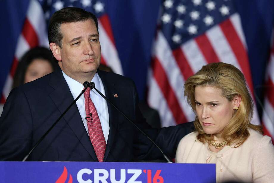 INDIANAPOLIS, IN - MAY 03:  Republican presidential candidate, Sen. Ted Cruz (R-TX) announces the suspension of his campaign as wife Heidi Cruz looks on during an election night watch party at the Crowne Plaza Downtown Union Station on May 3, 2016 in Indianapolis, Indiana. Cruz lost the Indiana primary to Republican rival Donald Trump.  (Photo by Joe Raedle/Getty Images) Photo: Joe Raedle, Staff / Getty Images / 2016 Getty Images