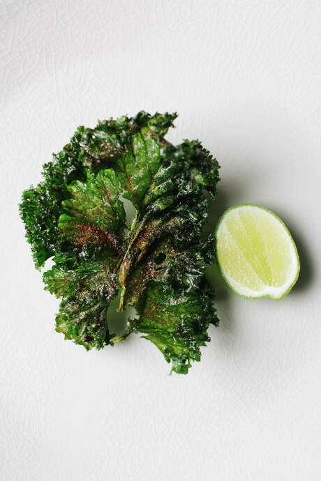 "Kale chicharron from ""Mexico from the Inside Out,"" by Enrique Olvera Photo: Araceli Paz / Courtesy Araceli Paz"