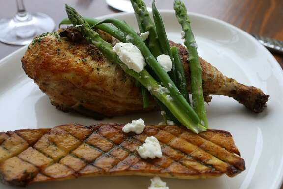 Grilled chicken from Edera Osteria-Enoteca