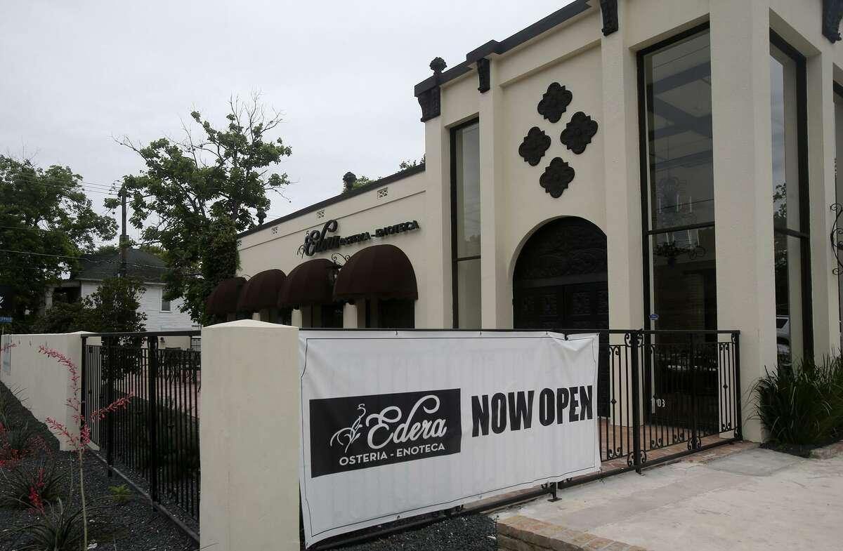 Edera Osteria-Enoteca on San Pedro Avenue closed over the weekend.
