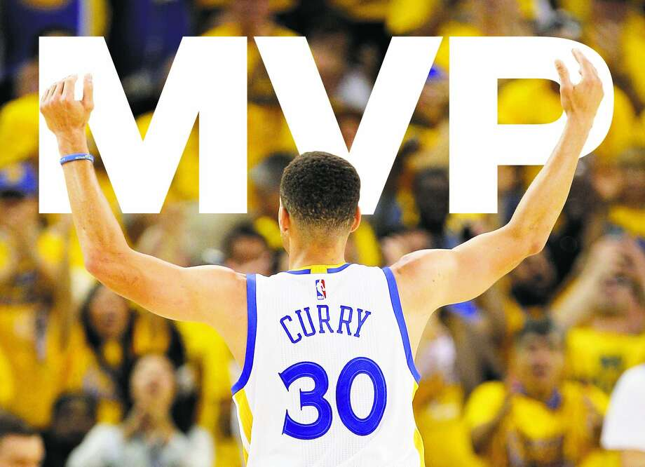 Stephen Curry celebrates a three-pointer during Game 1 of the first round of the Western Conference Playoffs at Oracle Arena on April 16, 2016. Photo: Carlos Avila Gonzalez, The Chronicle