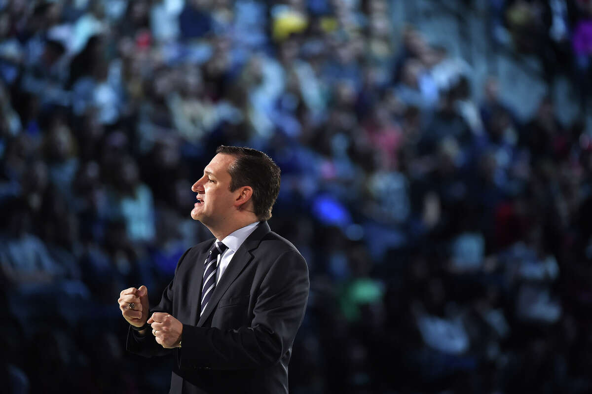 Sen. Ted Cruz, R-Texas announces his candidacy for president at Liberty University in Lynchburg, Virginia, on Monday, March 23,  2015. He is the first candidate to officially enter the race.