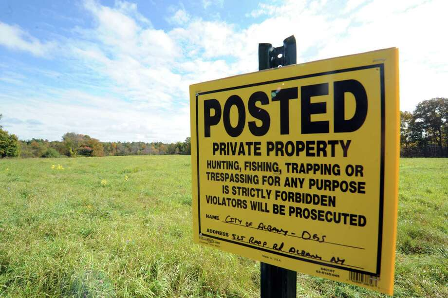 Part of the property owned by the City of Albany off Old Ravena Road on in  October 2014 in Coeymans, N.Y.  (Michael P. Farrell/Times Union) Photo: Michael P. Farrell / 00028874A