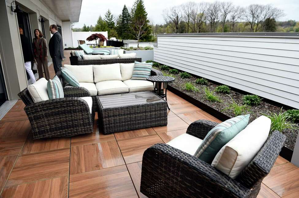 Rooftop terrace on Wednesday, May 4, 2016, at The Hamlet luxury apartment complex in Saratoga Springs, N.Y. (Cindy Schultz / Times Union)