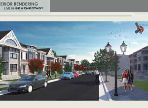 Artist's renditions of some of the proposals for the Live In Schenectady project.  (Paul Buckowski / Times Union)