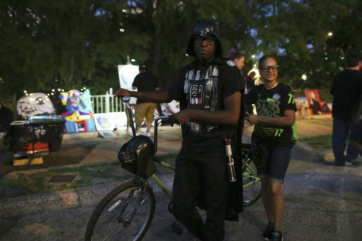 """May the 4th Star Wars Bike Ride Free, 7 p.m. Thursday at Groove Lounge, 501 E. Crockett St., Facebook: Bike Boozaroos Insert Kessel Run jokes here. Bike Boozaroos invites """"Star Wars"""" fans to BYOB (that's """"bring your own bike"""") for a colorful, beginner-friendly bike tour of Star Wars Day hotspots in San Antonio. Expect a slow-roll trip less than 8 miles, with """"Star Wars"""" costumes and other props encouraged. The ride is a bar hop, so adults are preferred."""