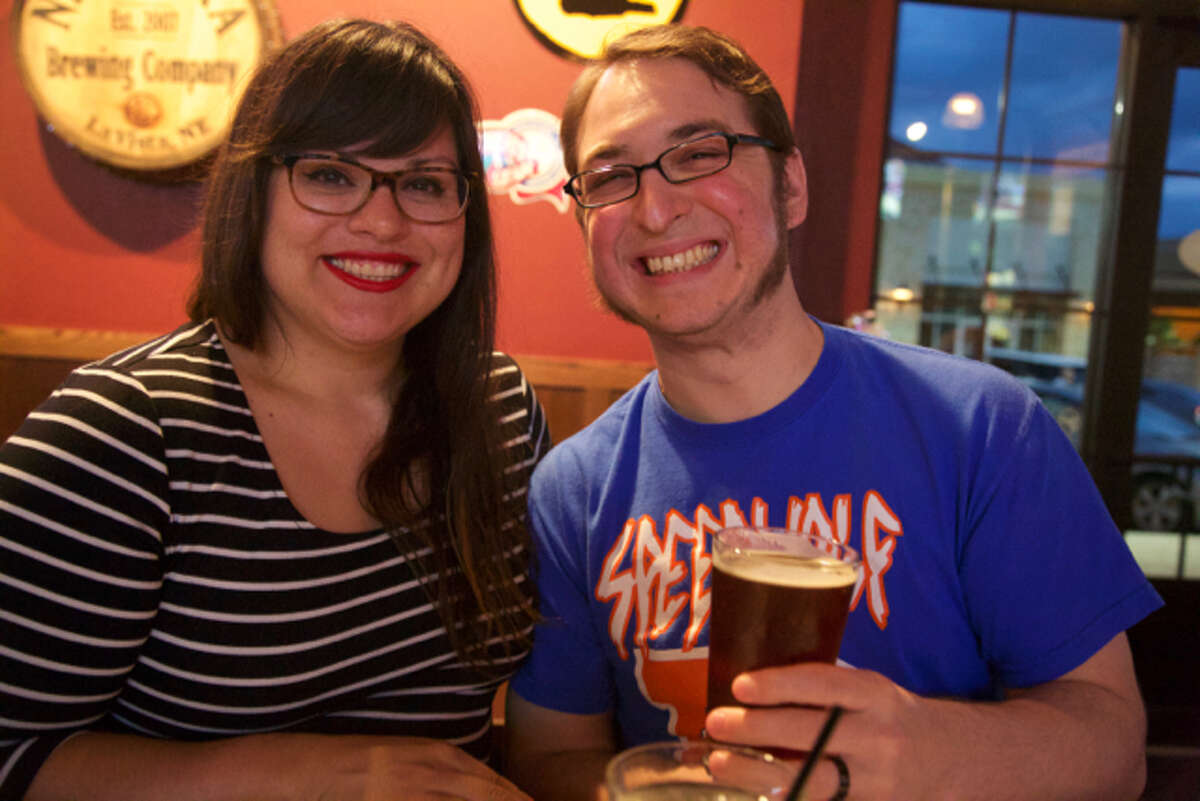 Stephanie and TJ Byrom are at The Brass Tap.