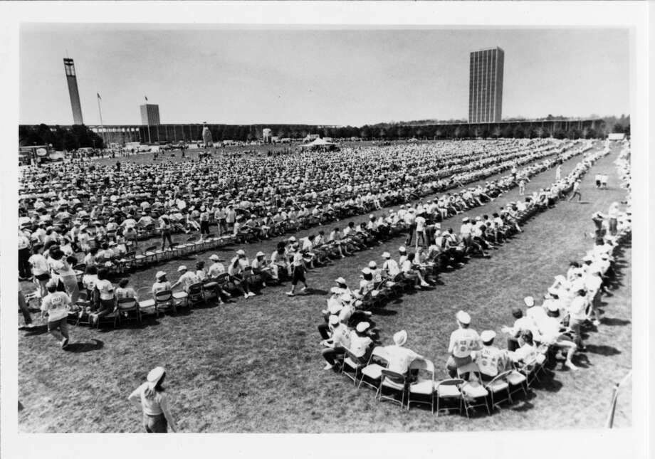 1. In 1985, responding to charges that Albany students lacked school spirit, the Student Association organized the world's largest game of musical chairs. It lasted 4 hours and 35 minutes. Photo: University Archives, University At Albany, SUNY