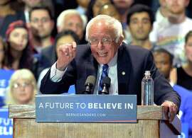 Democratic presidential candidate, Sen. Bernie Sanders, I-Vt., speaks to a gathering of supporters during a campaign rally at the Lexington Convention Center, Wednesday, May 4, 2016 in Lexington Ky.