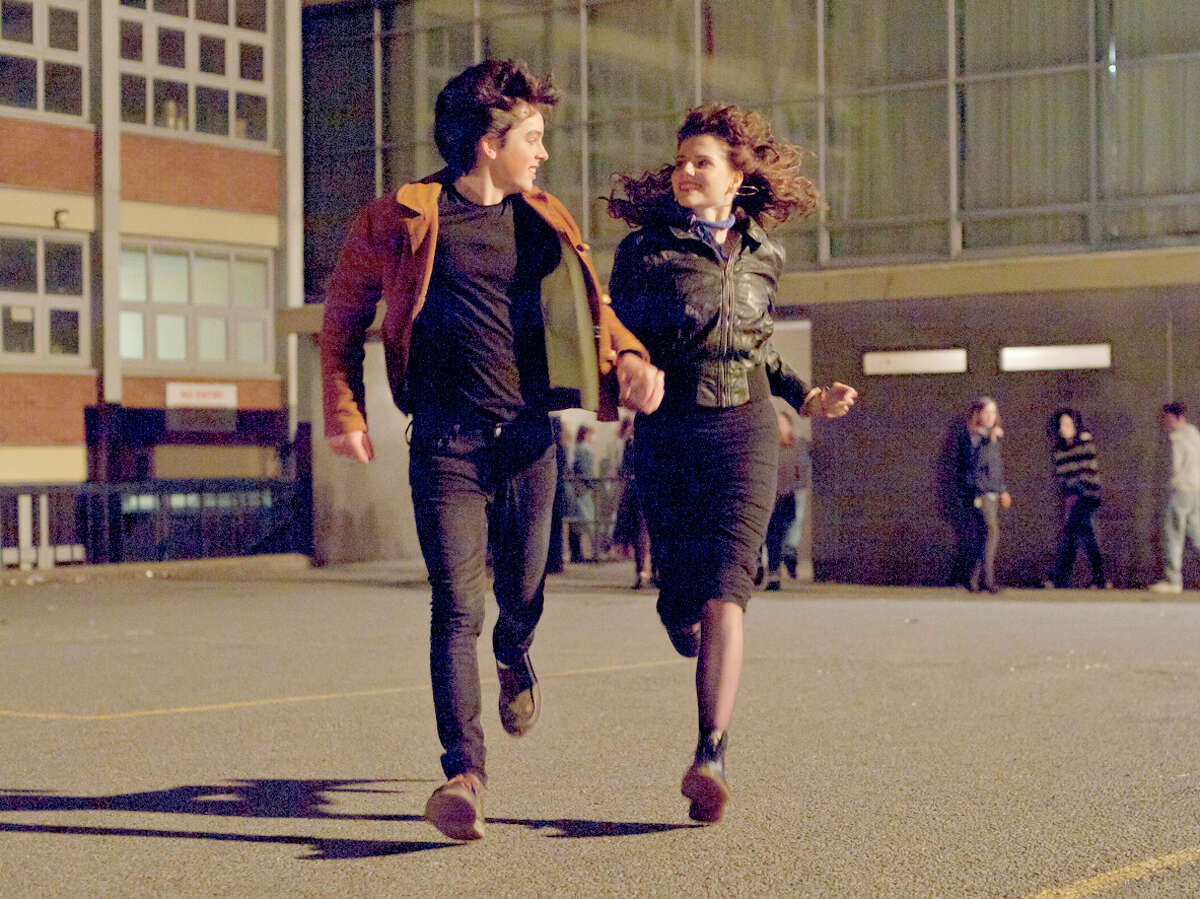 """Ferdia Walsh-Peelo and Lucy Boynton in """"Sing Street."""" MUST CREDIT: The Weinstein Company"""
