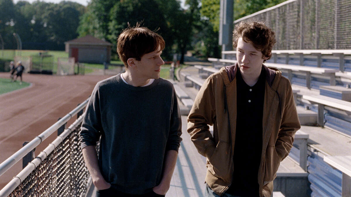 """(L-r) Jesse Eisenberg and Devin Druid in """"Louder Than Bombs."""" MUST CREDIT: The Orchard"""