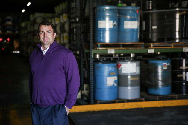 Palmer Logistics president Brett Mears stands in the portion of his warehouse that holds hazardous materials Wednesday, Nov. 25, 2015, in Houston. Photo: Michael Ciaglo, Houston Chronicle / © 2015  Houston Chronicle