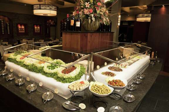 The apple salad at Chama Gaúcha Brazilian Steakhouse is one of the features of the large and ornate salad bar.