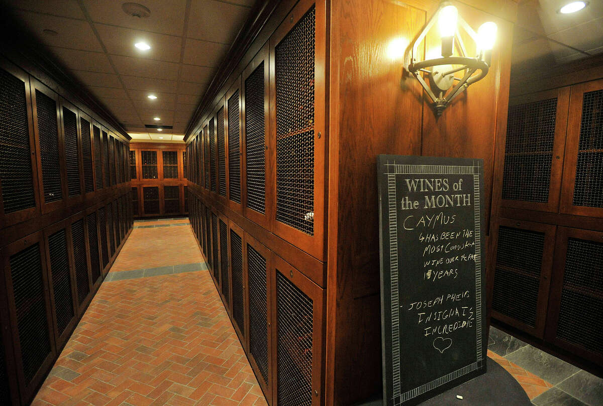 The climate-controlled wine cellar for residents in the Highgrove luxury high rise in Stamford, Conn.
