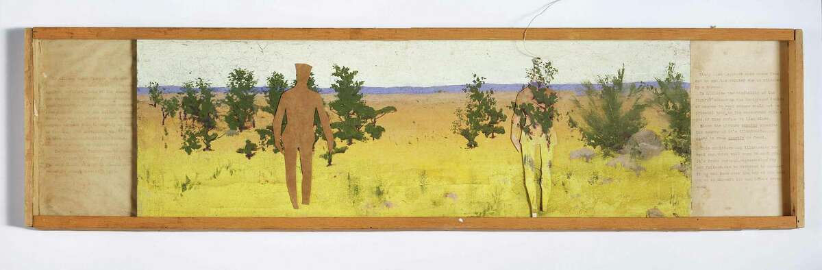 Abbott Handerson Thayer, Diorama for Military Camouflage with Text Panels, ca. 1914-15, mixed media on plywood. Collection of Richard Meryman ?48. (Courtesy Williams College Museum of Art)