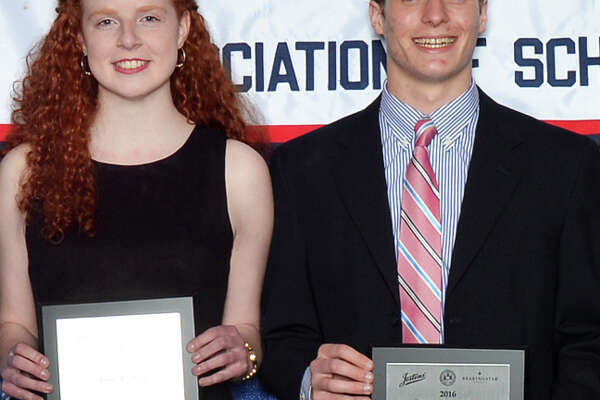 Aoife Cahill and Jeffrey Dutter, seniors at Fairfield Ludlowe High School, were among the students honored at the High School Outstanding Arts Awards Banquet hosted by the Connecticut Association of Schools.