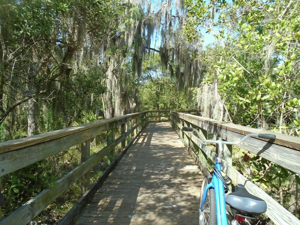 Hammock Park is a serene place in Dunedin to take a break when bicycling along the Pinellas Trail.