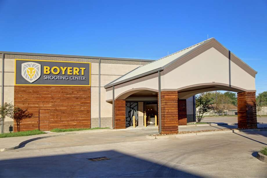 """Before it was taken down Tuesday, the Katy location's marquee sign read """"Back to school sale August 13 through 18. Up to 50 percent off firearms."""" Photo: Boyert Shooting Center (Katy)"""