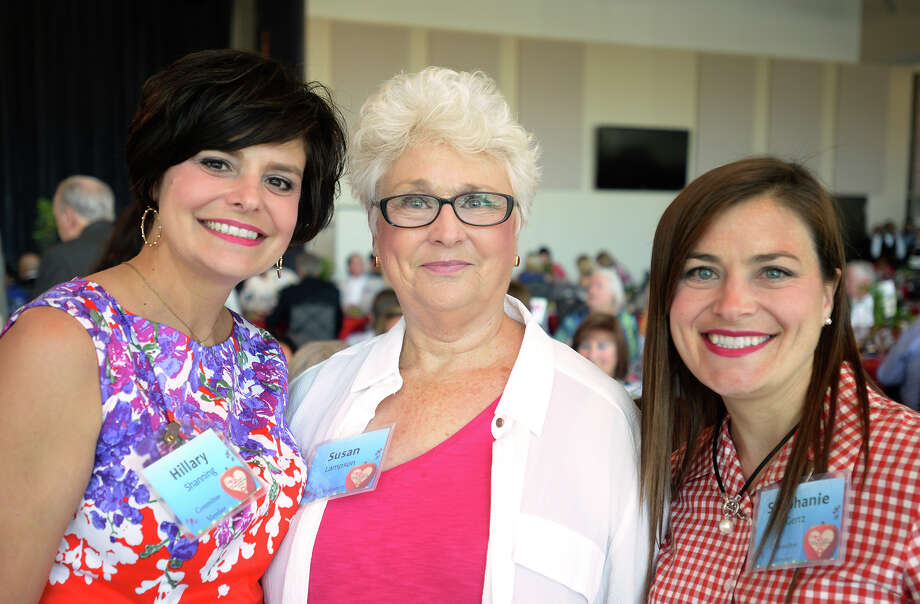 From left, Hillary Shanning, Susan Lampson and Stephanie Gertz at the Difference Recognition Luncheon on Thursday. The event raised money for Meals on Wheels.  Photo taken Thursday, May 05, 2016 Guiseppe Barranco/The Enterprise Photo: Guiseppe Barranco, Photo Editor