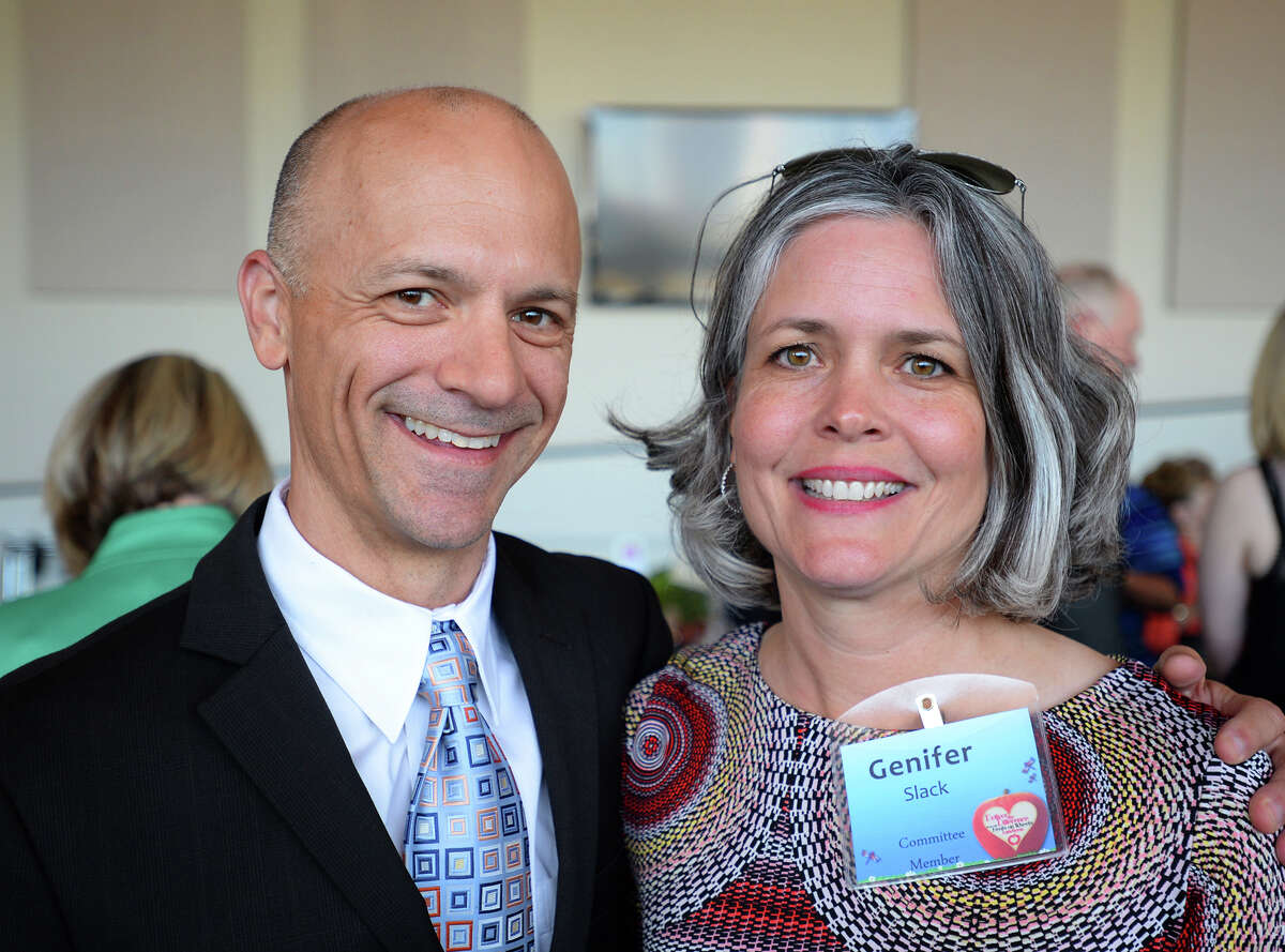 Tobin Slack and Ginifer at the Difference Recognition Luncheon on Thursday. The event raised money for Meals on Wheels. Photo taken Thursday, May 05, 2016 Guiseppe Barranco/The Enterprise