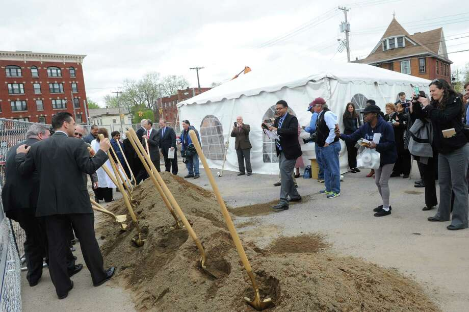 DePaul Properties, Inc., a not-for-profit organization based in Rochester, N.Y.,joined with city, county, state, and public and private partners to celebrate the groundbreaking of the Joseph L. Allen Apartments, which represents a $17.9 million investment on Albany Street in Schenectady's Hamilton Hill neighborhood.on Thursday May 5, 2016 in Schenectady , N.Y. (Michael P. Farrell/Times Union) Photo: Michael P. Farrell / 20036493A