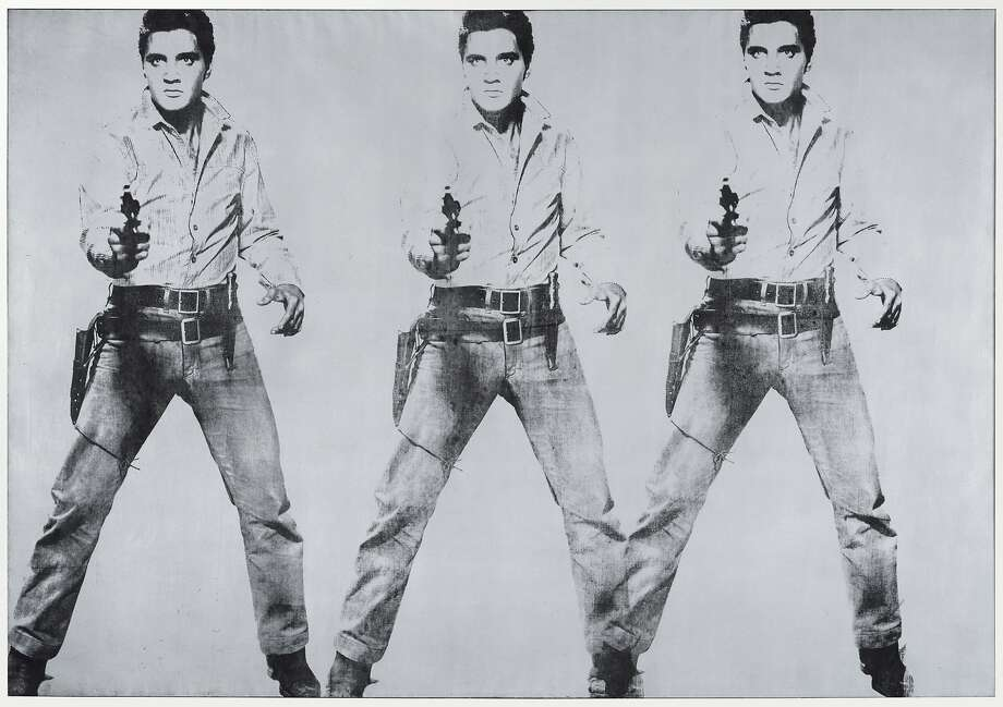 "Andy Warhol's homage to Elvis Presley is on a floor of ""Pop, Minimal and Figurative Art."""