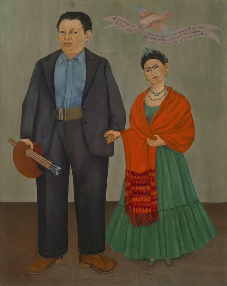 Frida Kahlo's portrait of herself and her husband, Diego Rivera. San Francisco will decide soon whether to change the name of Phelan Avenue to Frida Kahlo Way. Photo: Ben Blackwell