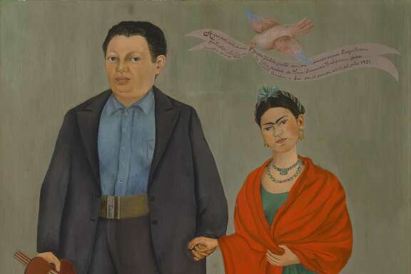 Frida Kahlo's portrait of herself and her husband, Diego Rivera. San Francisco will decide soon whether to change the name of Phelan Avenue to Frida Kahlo Way.