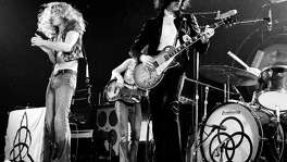 """Led Zeppelin,"" with (from left)   Robert Plant, John Paul Jones, Jimmy Page and John Bonham in Los Angeles   in 1973. The band played three times in San Antonio."