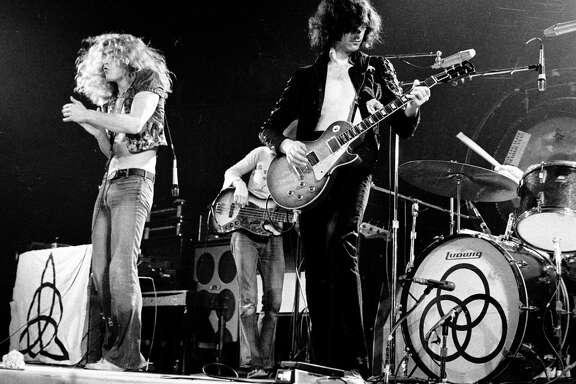 """""""Led Zeppelin,"""" with (from left)   Robert Plant, John Paul Jones, Jimmy Page and John Bonham in Los Angeles   in 1973. The band played three times in San Antonio."""