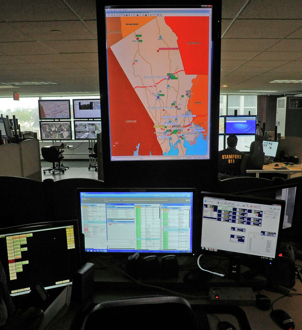 Stamford Emergency officials reveal the new Emergency 911 Communications system installed at the Emergency Operations Center & 911 Communications Center, on the 6th Floor of the Government Center on May 4, 2016.